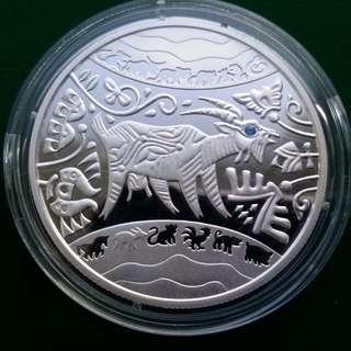 """烏克蘭5 UAH""""羊年""""銀幣2015年,"""