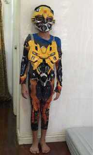 Transformers bumblebee costume with mask for 6 years old