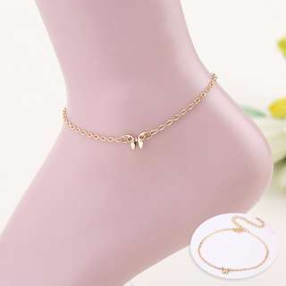 1 PC Cute Hot Women Butterfly Exquisite Gold Chain Anklets
