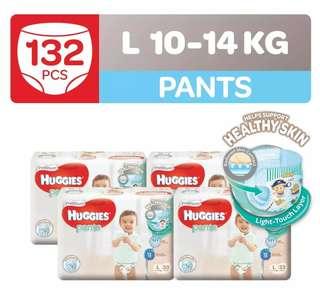 Huggies Platinum Pants New Design Size L / XL / XXL Carton Sale
