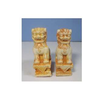 Chinese stone foo dogs one pair circa 1980s unused from old stock seldom seen 3