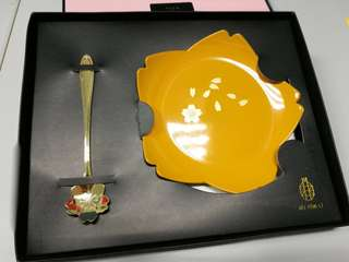 Sakura Tableware Set (Plate & Spoon)