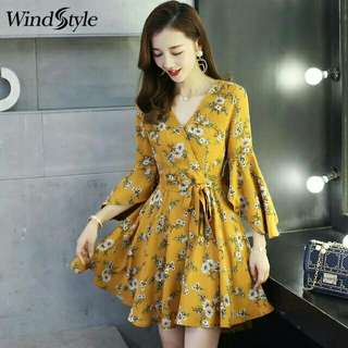*FREE DELIVERY to WM only / Ready stock* Ladies chiffon floral design dress as shown design/color. Free delivery is applied for this item.