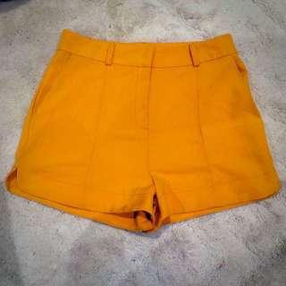 Zeitgeist Mustard Shorts Size 8