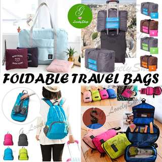 [Limited Time SALE] Foldable Travel Bags! Tote Bags, Backpacks, Toiletries Bag, Luggage Organizers