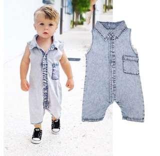 Denim Baby Bodysuit Romper Unisex