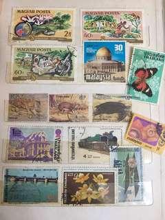 Magyar posta, Malaysia, Thailand Stamps