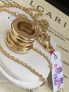 "18K|750 Bulgari B.Zero 1 Necklace Genuine Gold 18"""