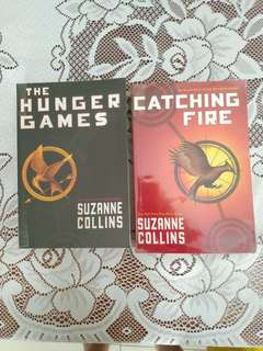 The Hunger Games and Catching Fire by Suzanne Collins