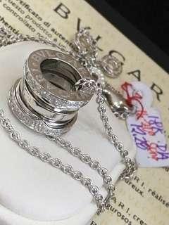 18K|750 Bulgari B.zero 1 Real Diamond Necklace Genuine White Gold