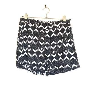 Aztec print fabric shorts
