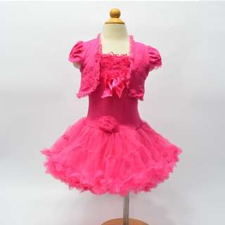 Last ! New Girls Pettiskirt Tutu Pageant Dresses Velvet Shrug Cardigan 全新女童連身裙 花女裙 生日會 2-3T