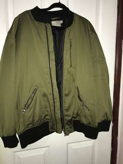 ASOS Plus size army green bomber jacket