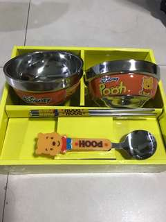 Pooh spoons and chopsticks