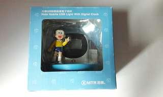 地鐵 港鐵 MTR X Doraem 大雄紀念車票連USB燈連電子時計