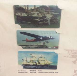 The Story of Singapore's Transportation (wings, Wheels & Sails) Phonecards Limited Ed