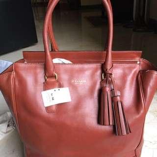 Coach full leather work bag