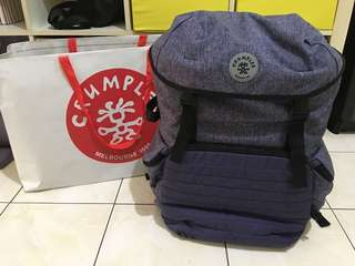 Brand new Crumpler photography backpack can put in 2 full frame camera 4 lens include 70-200 f2.8 and flash