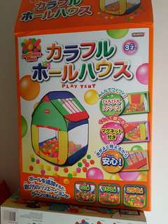 japanese play tent with 50 balls kids baby teepee