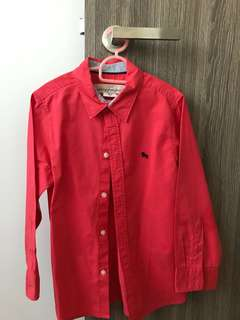 Red H&M long sleeve shirt for boy