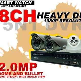 8 Channel Heavy Duty 1080P Resolution CCTV  Package