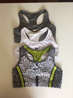 Nike dri-fit sports bra x3