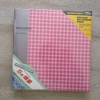 Pink Photo/Picture Self-adhesive Album / Scrapbook (BN) Nakabayashi