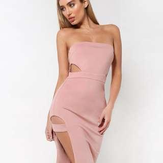 XS Nude Bodycon dress