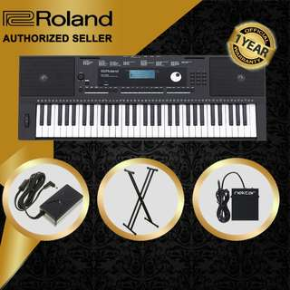 The Pianist Studio   Authorized Seller - Roland E-X20 61 Keys Arranger Keyboard Piano with Keyboard Stand and Sustain Pedal Singapore Sale