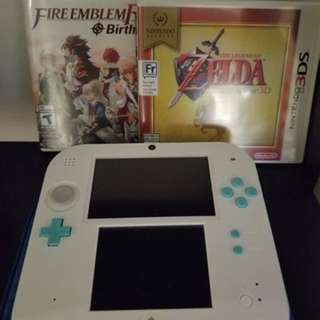 Nintendo 2DS with 2 games
