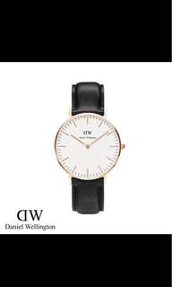 Daniel Wellington 36mm classic white bLack Sheffield leather