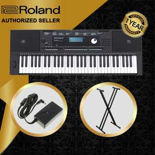 The Pianist Studio   Authorized Seller - Roland E-X20 61 Keys Arranger Keyboard Piano with Keyboard Stand Singapore Sale