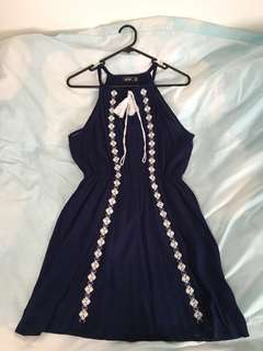 Navy Blue Swing Dress