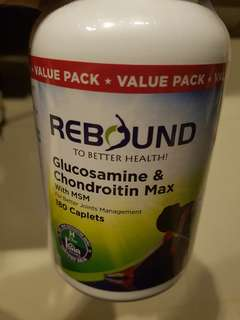 Rebound Glucosamine & Chondroitin Max ( With MSM for Better Joints Management )