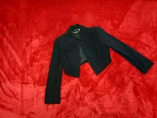Black Cropped Alexander McQueen blazer