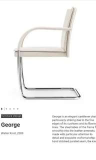 Walter knoll George cantilever chair