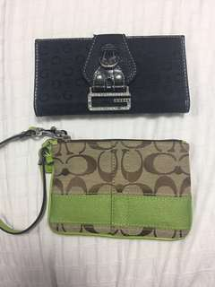 Coach and Guess wristlets and Wallet
