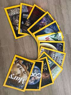 National Geographic Magazines 2015