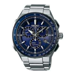 Seiko Astron SSE127J1 GPS Solar Chronograph Blue Dial SSE127 SSE127J Titanium