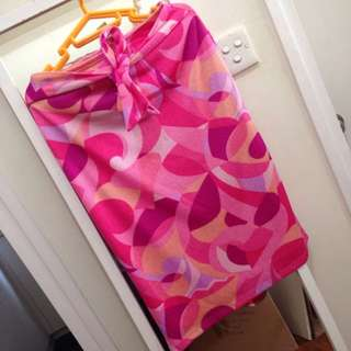 Pucci Kaleidescope Printed Knit Skirt and Halter Top Set