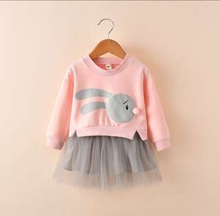 Baby Girl Tutu Dress Long Sleeve