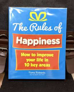 《New Book Condition + How Small Changes 10 Life Domains Can Lead To bbig Improvements In Your Life》Fiona Robards - THE RULES OF HAPPINESS : How To Improve Your Life In 10 Key Areas