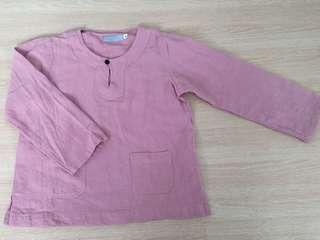 Dusty Pink Baju Melayu - Top only