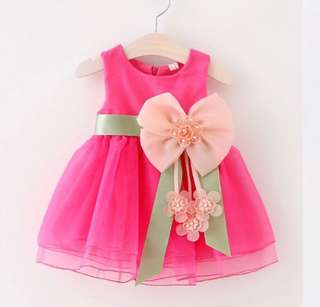 Princess Bow Dress Pink