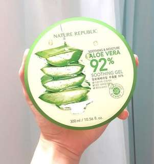 NATURE REPUBLIC ALOE VERA GEL JASTIP ORI HONGKONG LIMITED ONLY