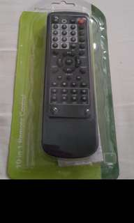 (Brand New) Super Light Weight 10 In 1 Remote Control. Suitable For Most Tv, Vcr, Txt, Cable, Hifi, Cd Code, Ld, Aux, Sat, Dss, DVD.  5 Seconds For Setup.