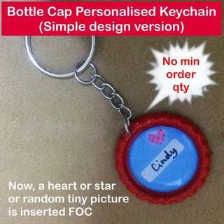 Bottle Cap Personalised Keychain (simple design version - no min order qty) [as personalised gifts handmade uncle.anthony uncle anthony uac]  FOR MORE PICS & DETAILS, 👉 http://carousell.com/p/166702425