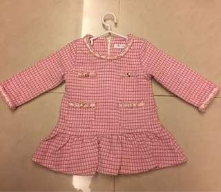 小香風粉裙