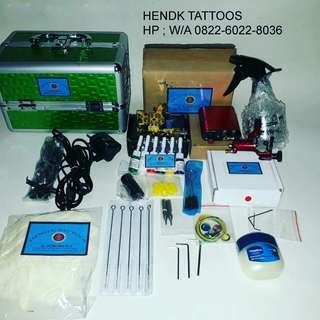 Mesin tattoo full set 2 mesin rotary dan coil 10wrap