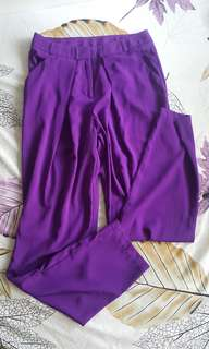 Purple hw pants